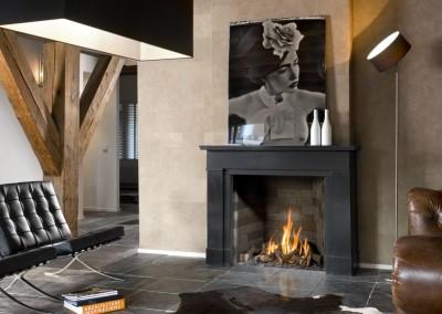 Brunner - Stil-Kamin Gas 65/70 Gemälde über den Flammen
